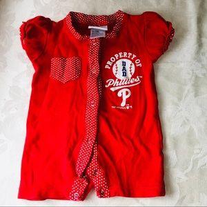 Genuine Merchandise One Pieces - Philadelphia Phillies romper-Girls 6/9 months